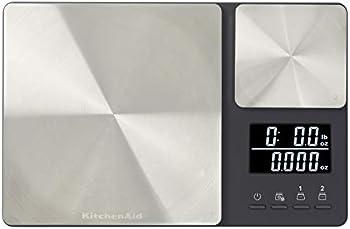 KitchenAid Dual Platform Digital Kitchen Scale with 11 Pound Capacity