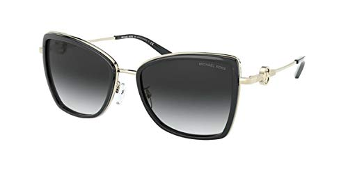 Michael Kors 0MK1067B Gafas, BLACK/GREY SHADED, 55 para Mujer