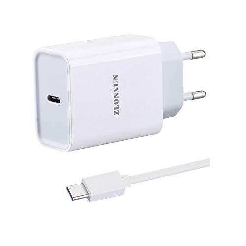 ZLONXUN Caricabatterie Caricatore Rapido con Cavo USB-C per Xiaomi Mi 9T/10/8 Lite/9/10 Lite/A3/8/9/9T/9 SE/8 PRO/9 Lite,Xiaomi Redmi 8/Note 8 PRO/Note 9/8A/9/Note 8T/Note 9S/Note 7