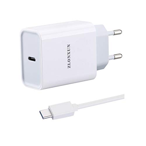 ZLONXUN Cargador rapido con Cable USB C para Xiaomi Mi 9/10/Note 10/A3/9 Lite/10 Lite/9 SE/9 Pro/8/9T/8 Pro/8 Lite,Xiaomi Redmi 8/9/8A/Note 8/Note 7/Note 9/Pro