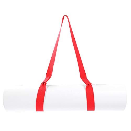 Kadimendium Bolsa de Esterilla de Yoga Yoga Trapecio Correa de Esterilla de Yoga Correa de Eslinga de Esterilla de Yoga Ajustable Suave para Deportes al Aire Libre para Ejercicio(Red)