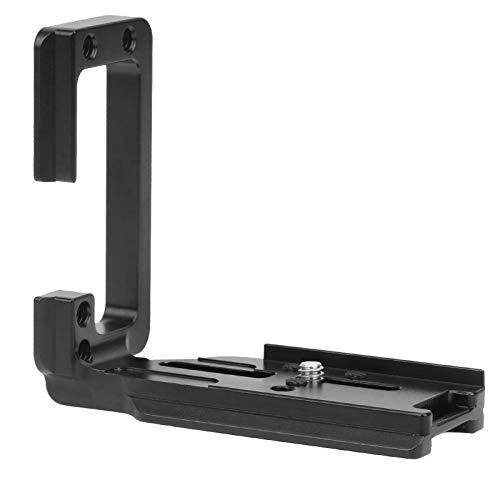 Yunir Placa de liberación rápida de cámara, Mango de Soporte de Montaje en Forma de L de aleación de Aluminio CNC de cámara con Ajuste de Tornillo de 1/4 Pulgada para Canon EOS-R5