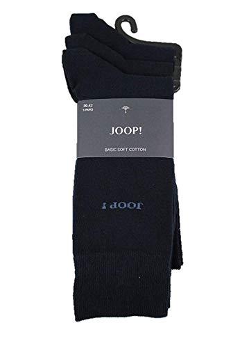 Joop! Herren Socken, 3er Pack - Kurzsocken, Baumwolle, Unifarben Navy 39-42