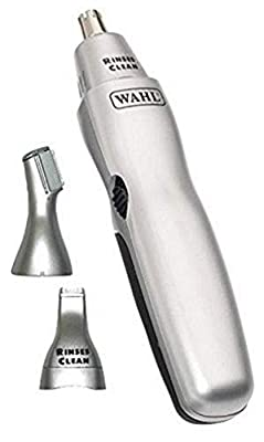 Wahl Nose Hair Trimmer for Men and Women 3-in-1 Nose Trimmer and Ear and Eyebrow Trimmer, Washable Heads by Wahl