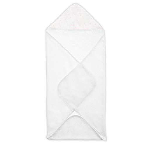 aden by aden + anais cape de bain à capuche, éponge de coton avec capuche en mousseline, 78cm X 78cm, full bloom