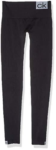 Calvin Klein Socks Womens CK Logo Women\'s Legging (1 pack) Socks, black/white, S