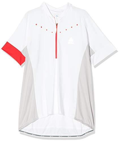Odlo Stand-Up Collar S/S 1/2 Zip Gavia 4 Camiseta, Blanco White 410891 10000, XXL/XX-lejos para Mujer