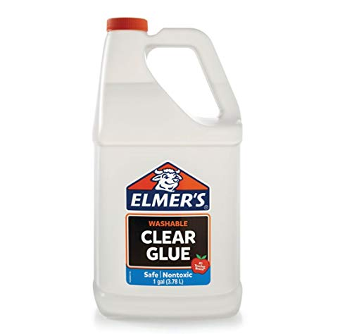 Elmer's Liquid School Glue, Clear, Washable, 1 Gallon - Great for Making Slime