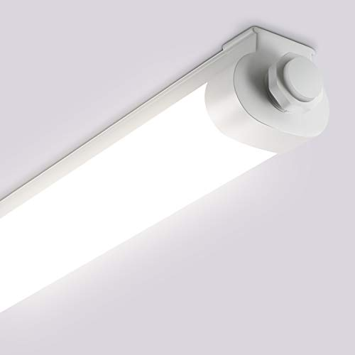 Oeegoo LED Feuchtraumleuchte 120CM, 33W 3300LM Deckenlampe, IP65 Wasserdicht Wannenleuchte Werkstattleuchte Nassraumleuchte Garagenlampe Bürodeckenleuchte mit Reihenschaltung (Max bis 10St.)