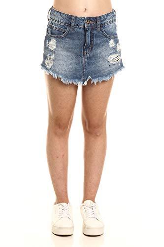 Short Saia Jeans Drica, Colcci Fun, Meninas, Indigo, 16