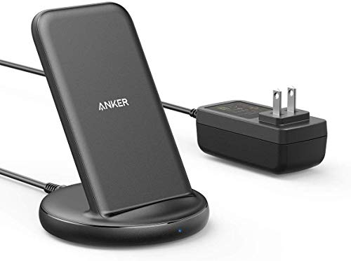 Anker PowerWave II Stand ワイヤレス充電器 Qi 認証 iPhone 12 / 12 mini / 12 Pro / 12 Pro Max / 11 / 11 Pro / 11 Pro Max / SE(第2世代) / XS / XS Max / XR / X / 8 / 8 Plus / Pixel 4 / Pixel 4 XL / LG / Xperia / Galaxy S10 / S9 / S8 / Note 10 / Note 9 その他Qi対応機器各種対応 最大15W出力 ACアダプタ付属 ブラック