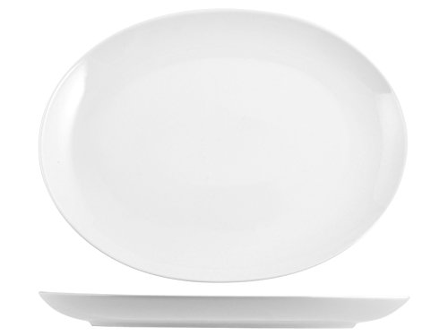 HOTELWARE 4350526 Plat Royal Zen Ovale, 33 cm, Porcelaine, Blanc
