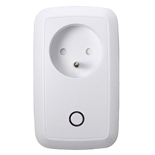 M.Way - Enchufe inteligente, toma de corriente con WiFi, mando a distancia, interruptor de encendido, WiFi domótica con temporizador para tableta y smartphone APP Urant