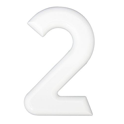 Hausnummern 2 Kunststoff weiß 160mm 1 St.