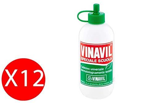 Vinavil - Pegamento adhesivo, formato especial para la escuela, 100 g, paquete de 12 unidades