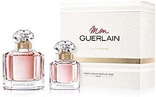 Mon Guerlain Set Eau De Parfum Spray 3.3 Oz and Travel size Eau de Parfum 1 Oz