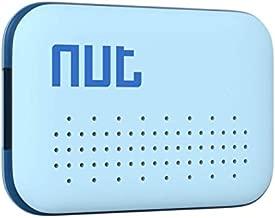 Nutale Key Finder Locator Mini Smart Bluetooth Tracker Anti-Lost Bidirectional Alarm Mode Wallet Tracker Key Finder Keychain for Find Key Pets Luggage Wallet - Blue/White (Blue)