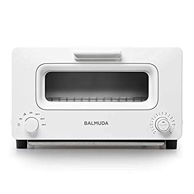 BALMUDA The Toaster | Steam Oven Toaster | 5 Cooking Modes - Sandwich Bread, Artisan Bread, Pizza, Pastry, Oven | Compact Design | Baking Pan | K01M-WS | White | US Version