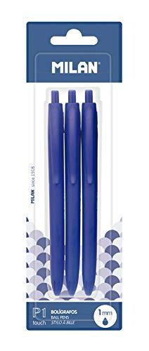 MILAN P1 Touch Boligrafos, Azul, 1 mm, 3