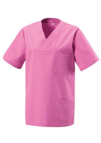 Unbekannt Schlupfkasack Kasack Schlupfjacke Schlupfhemd für Medizin und Pflege OP-Kleidung Pink Gr. S