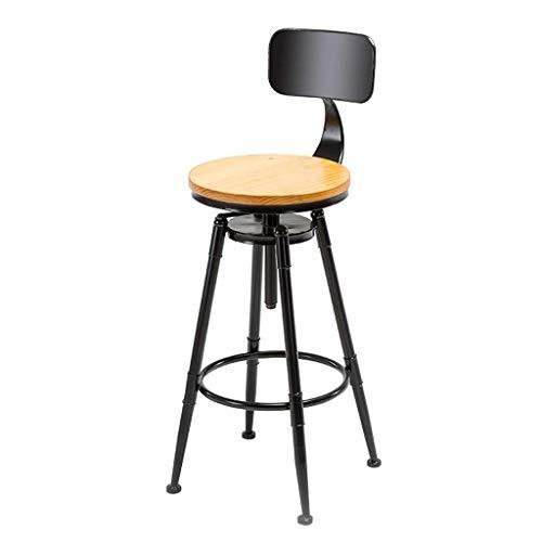 EEYMGR Moderner Metalltragbarer Barhocker, 360 ° drehende Café-Hochbank-Küche und Hausbar Innen