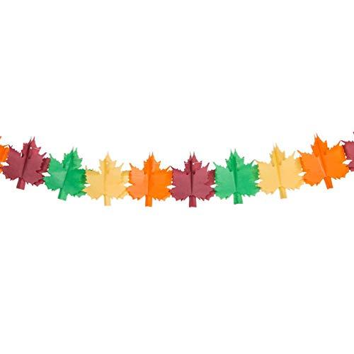 LHQ-HQ Banner de hoja de papel colgante de hojas de arce, guirnalda de banderines de arce para fotos, decoración de pared para café, hogar bar