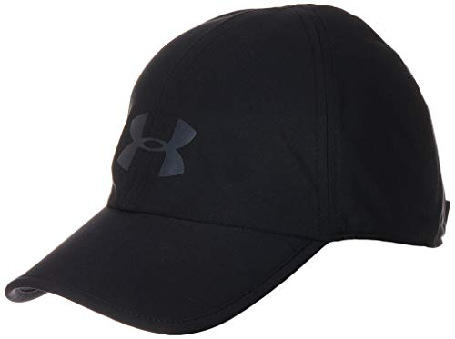 Under Armour Run Shadow Gorra, Unisex Adulto, Negro, OSFA