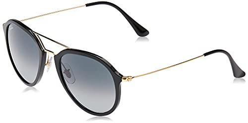 Ray-Ban Unisex RB4253 Sonnenbrille, Schwarz (Gestell: schwarz,Gläser: grau verlauf 601/71), Small (Herstellergröße: 50)