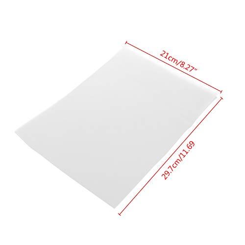 VIccoo Papier-calque, 10 Feuilles de Papier calque A4 translucide Passe-Temps Artisanat Copie Dessin de Calligraphie