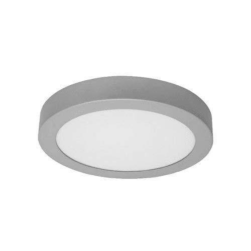 Plafón LED redondo, iluminación 18W (Luz Neutra, Marco Plateado)