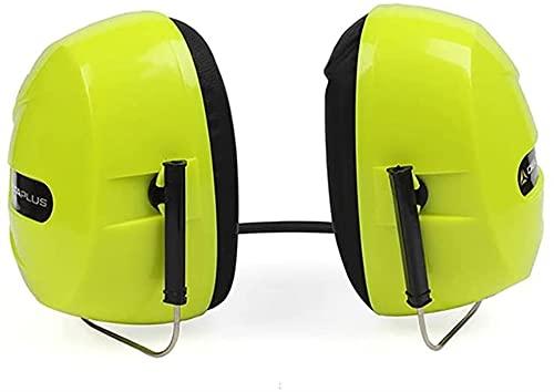 Tipo de Banda de Cuello Orejeras insonorizadas Funciona y Estudio insonorizado Cómodo (Color : Green, Size : One Size)