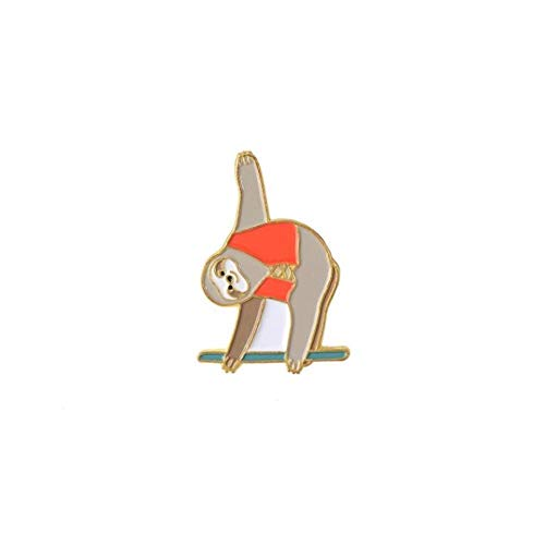 *15 Styles Cute Sloth Koala Enamel Pins Lovely Lazy Flash Badge Denim Bag Animal Jewelry Kids Gifts Brooches Lapel Pins(Size:3)