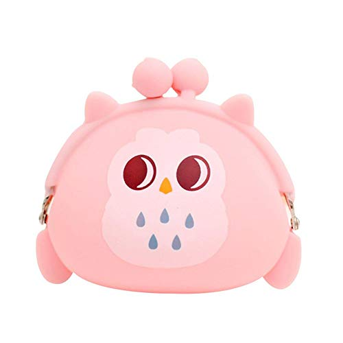Xinyin Coin Pouch Bag Owl Coin Purse Key Case Silicone Storage Bag Cosmetic Bag 9 * 10cm