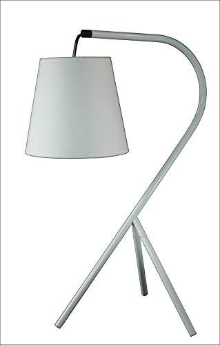 Meubletmoi Lampe Chevet Design à trépied - Abat-Jour en Suspension - Blanc - Modèle Campana
