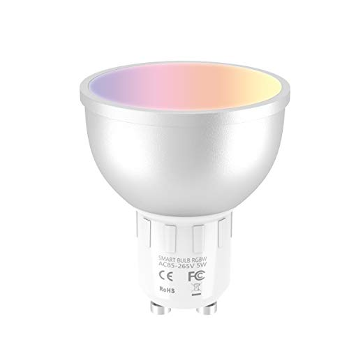 Extsud Smart WiFi dimmerabile, GU10RGB 5W LED Lampadina intelligente compatibile con Amazon Echo ALEXA controllo remoto da smartphone iOS e Android 50W equivalente