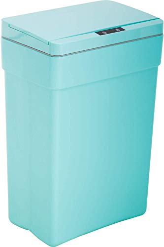 13 Gallon Touch Free Automatic Trash Can, 50L Large Capacity Plastic Garbage Can Trash Bin with Lid for Kitchen Living Room Office Bathroom, Electronic Touchless Motion Sensor Automatic Trash Can Blue