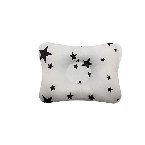Baby Pillow Head Protection Cushion Baby Protective Pillow Sleep Positione Anti Roll (Black Star, (26-28cm) X(16-18cm) X(3-5cm))