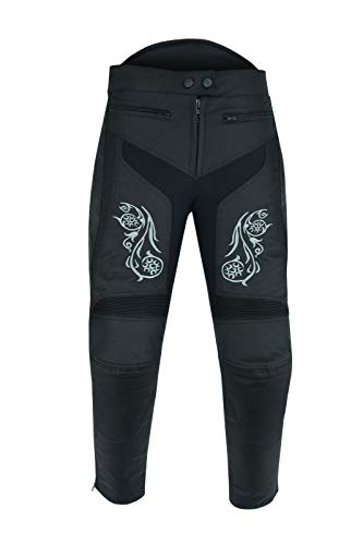Warrior Gears Pantalones de moto para mujer, impermeables, resistentes al viento, forro térmico, protección extraíble, CE
