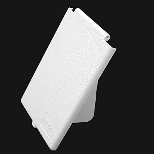 Tapa de repuesto para enchufe exterior CEE, enchufe empotrable para caravana, color blanco, rectangular