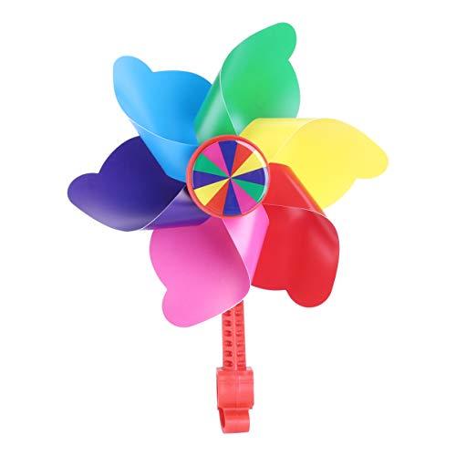 BESPORTBLE Fahrrad Windmühle Blume Windrad Kinderfahrrad Windmühle Kunststoff Jungen Mädchen Kleinkinder Fahrrad Lenker Fahrräder Roller Scooter Dreiräder Laufräder Dekoration Stil A