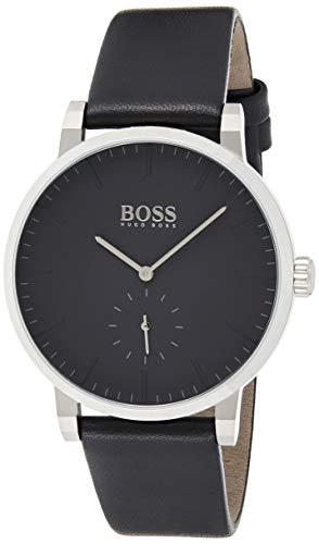 Hugo Boss Herren Analog Quarz Armbanduhr mit Lederarmband