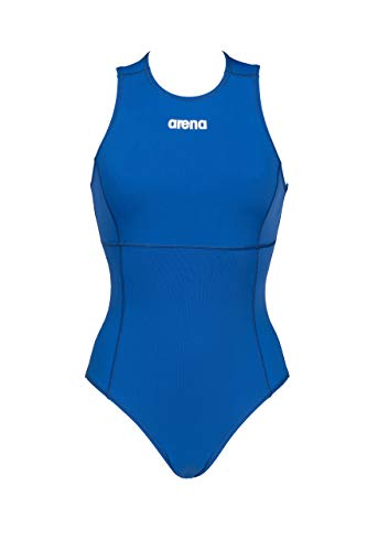 ARENA Damen Solid Waterpolo One Piece Badeanzug, Royal-White, 42