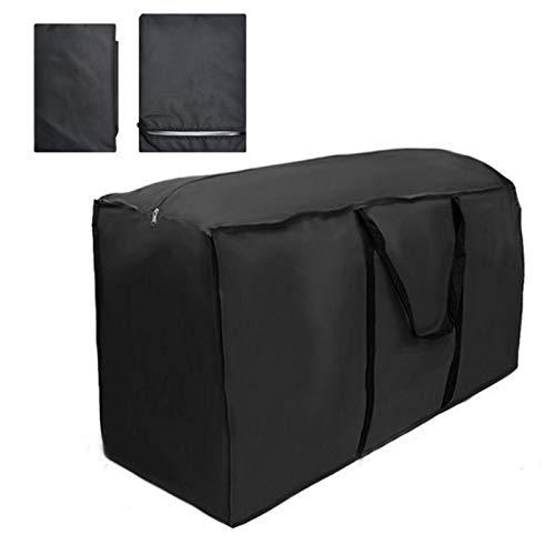 Nuevo jardín al aire libre muebles tienda cojín bolsa de almacenamiento bolsa impermeable caso cubierta (negro, 173x76x51cm)