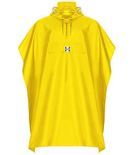 HOCK Regenponcho Damen Herren – Regenponcho Fahrrad 100% Wasserdicht – Regenponcho Festival – Regenbekleidung Wandern (gelb, XXL über 185cm Körpergröße)