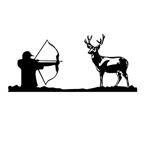 A/X 17.3CM*7.8CM Bow Hunter Decal Deer Hunting Vinyl Car Sticker S9-0092 Silver