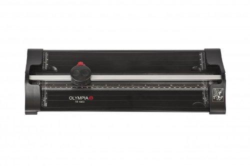 Olympia TR 1003 Papierschneider (Rollenschneider, DIN A4, Papierauflage, Positionierhilfe, Schneidemaschine für Papier, Karten und Fotos, Hochwertiges Papierschneidegerät mit Schneidelineal)