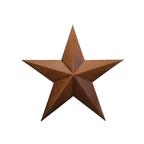 Rusty Metal TIN BARN Star 24 -Rustic Primitive Country Indoor Outdoor Christmas Home Decor. Interior Exterior Metal Decorations Look Great Hanging on House Walls Fence Porch Patio. Quality Gift 24'