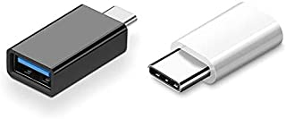 VEIKK OTG USB C to USB Adapter (2 Pack),Support Drawing Tablet S640 and A30 to Connect Mobile