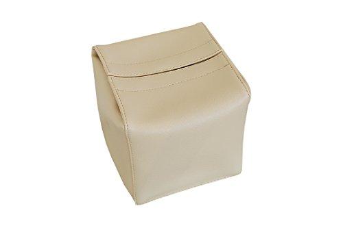 TEES FACTORY 国産 PVC レザー ティッシュ ケース JECY_cube ベージュ