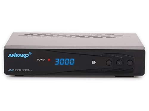 Ankaro DCR 3000plus digitale 1080p Full HD kabel-ontvanger voor kabeltelevisie met PVR-opnamefunctie (HDTV, DVB-C/C2, HDMI, scart, coaxial, mediaspeler, USB) automatische installatie, zwart zwart 784965